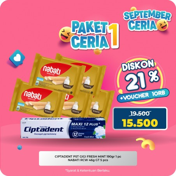 Ciptadent Pasta Gigi Dan Wafer Nabati Paket Promo Murah
