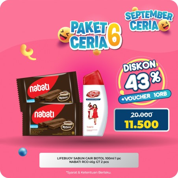 Lifebouy Sabun Cair Dan Wafer Nabati Coklat Paket Promo Murah